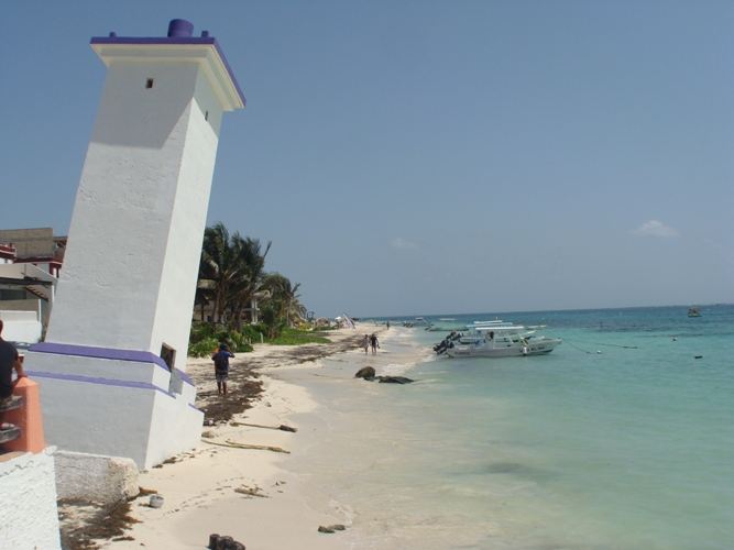 Puerto Morelos Mexico Lighthouse
