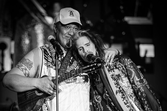 Steven Tyler and Uncle Willie K